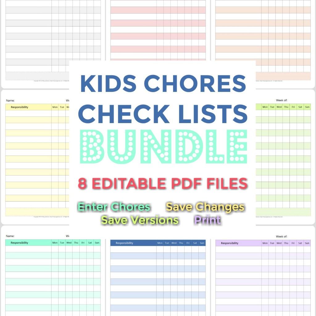 Kids Chores Check Lists - SHOP