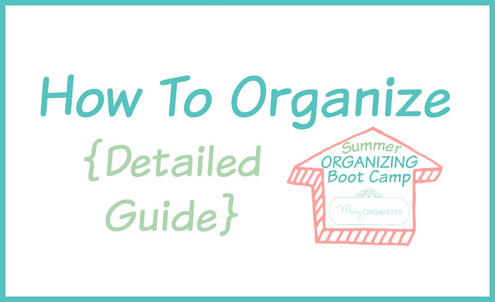 How To Organize _hor