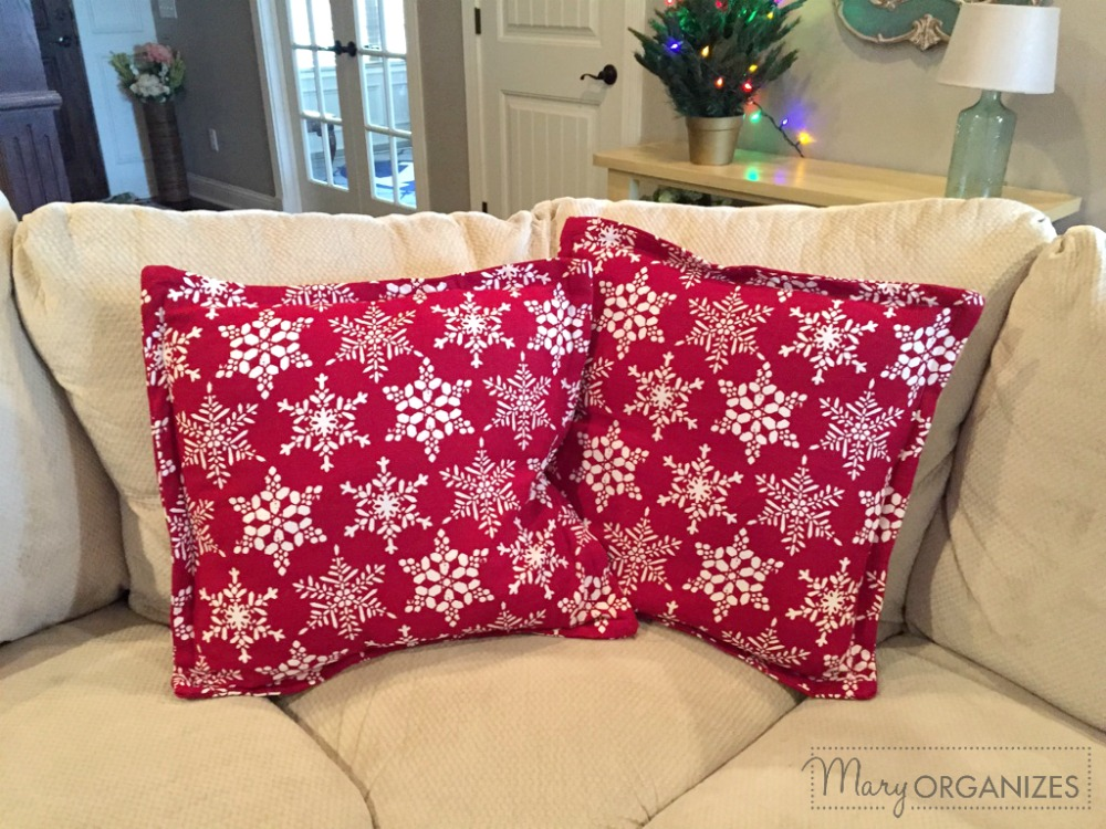 Pillow Covers Step - on the couch