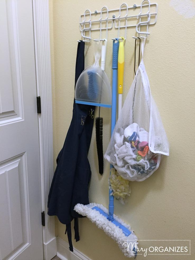 Laundry Room - hooks behind door