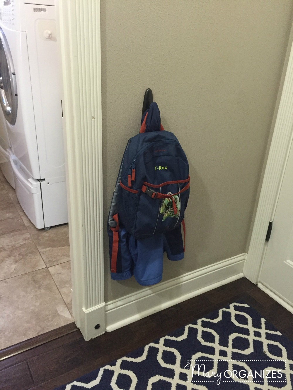 mary organizes - mud area coat hook for boy