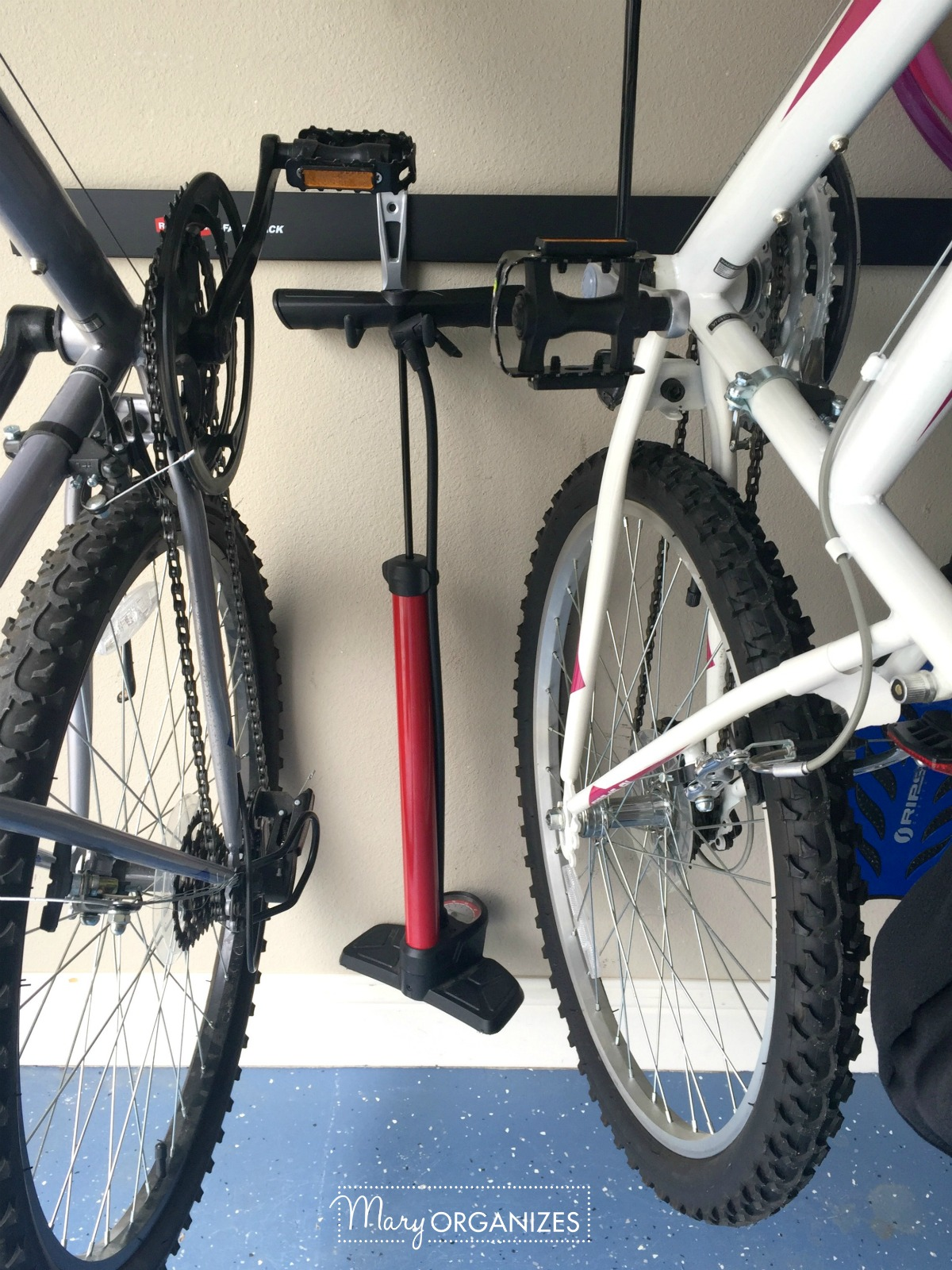 Garage Organizing - How to hang bikes scooters ripsticks balls and more -g2