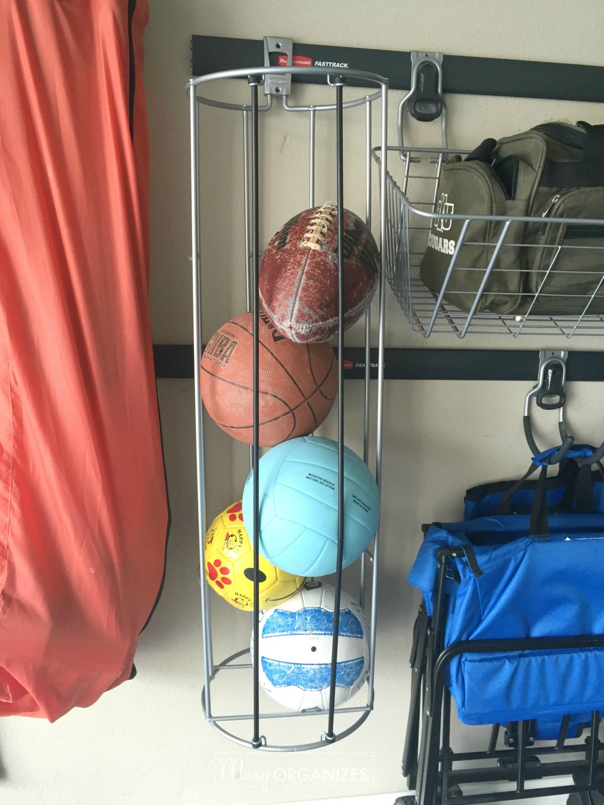 Garage Organizing - How to hang bikes scooters ripsticks balls and more -g8