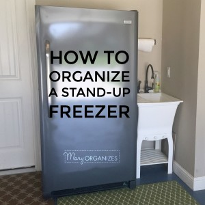 HOW TO Organize A Stand-Up Freezer -s