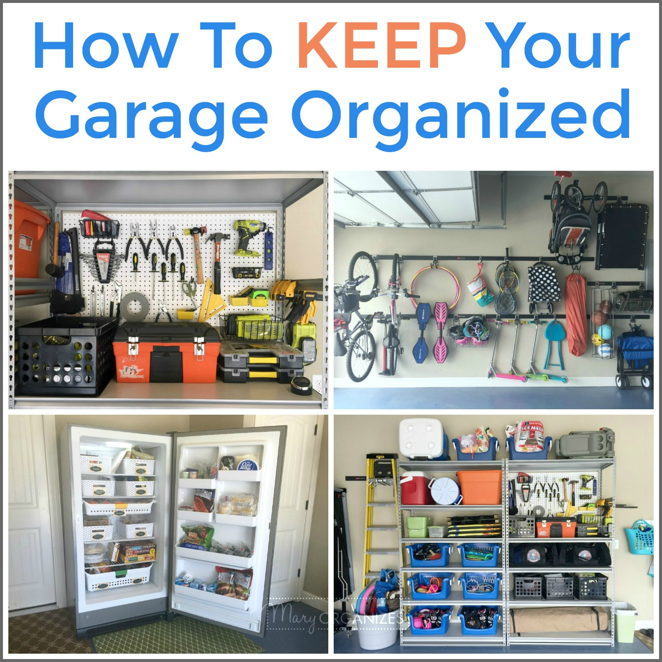 How To Keep Your Garage Organized -s