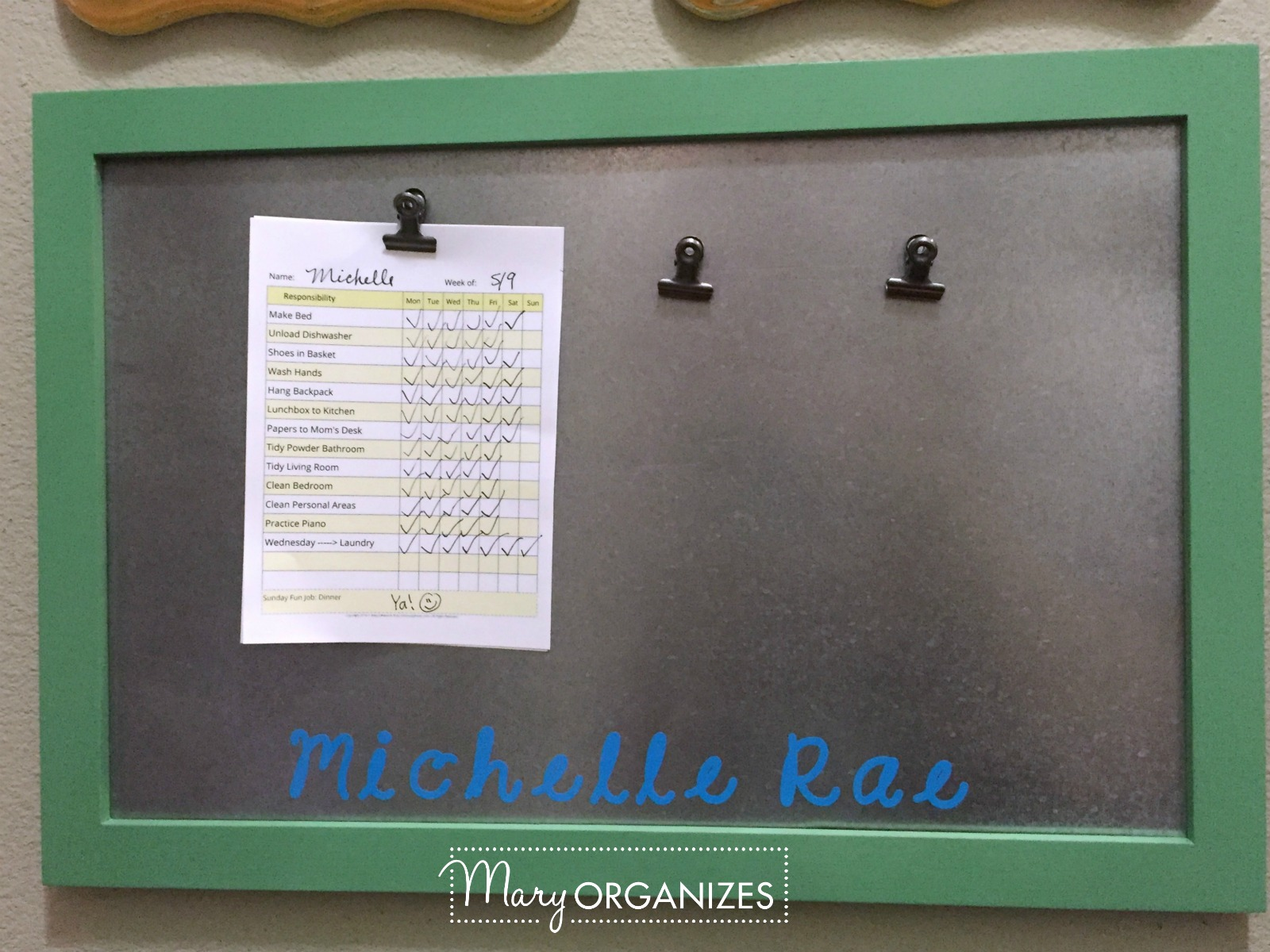 Kids Command Center - for hanging chore lists and more 5