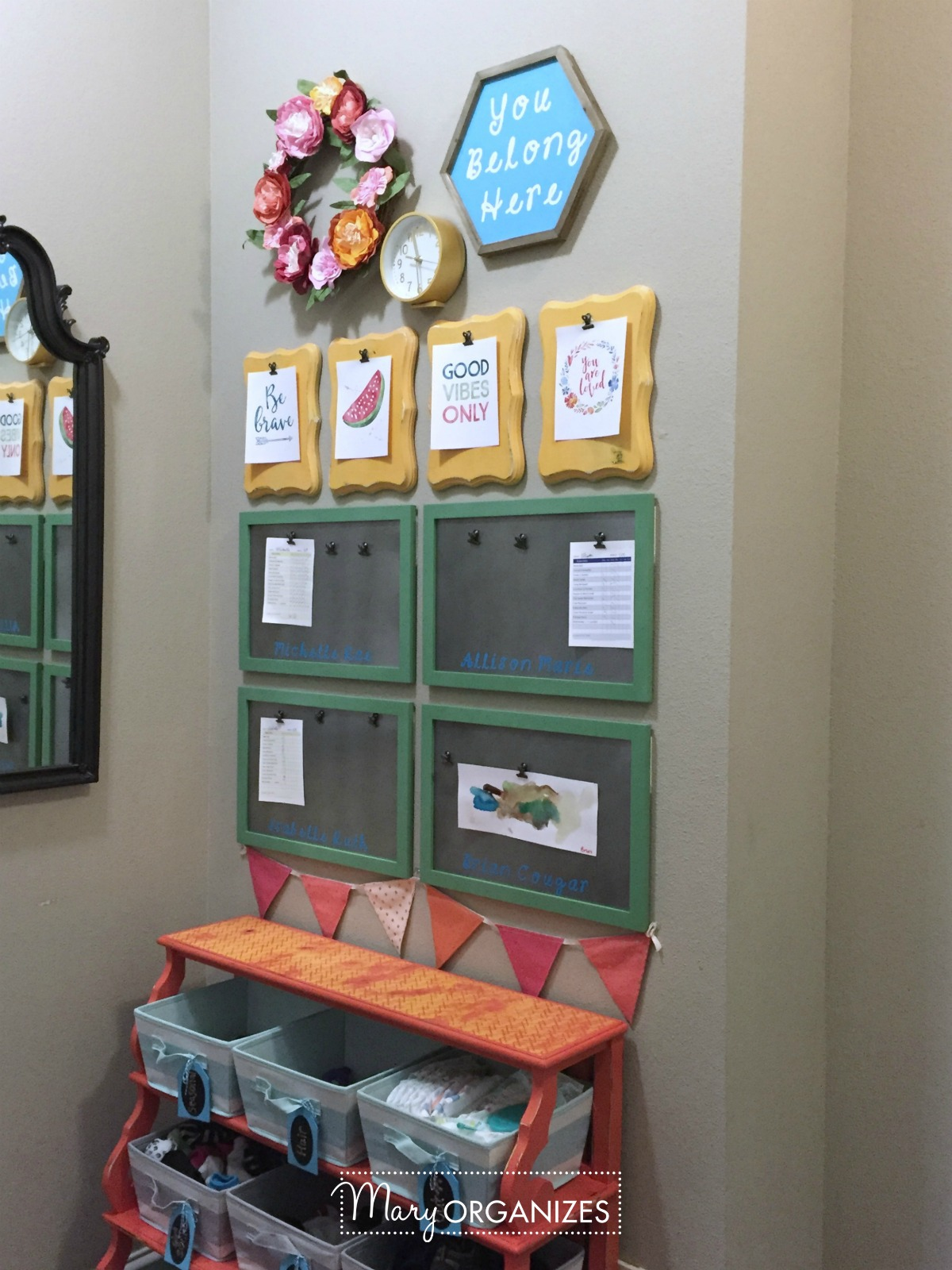 Kids Command Center - for hanging chore lists and more 8