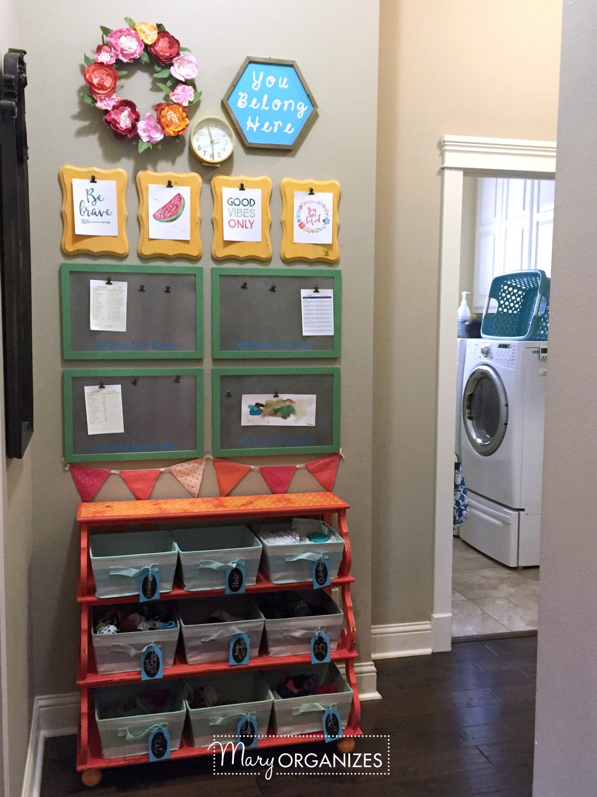 Kids Command Center - for hanging chore lists and more 9