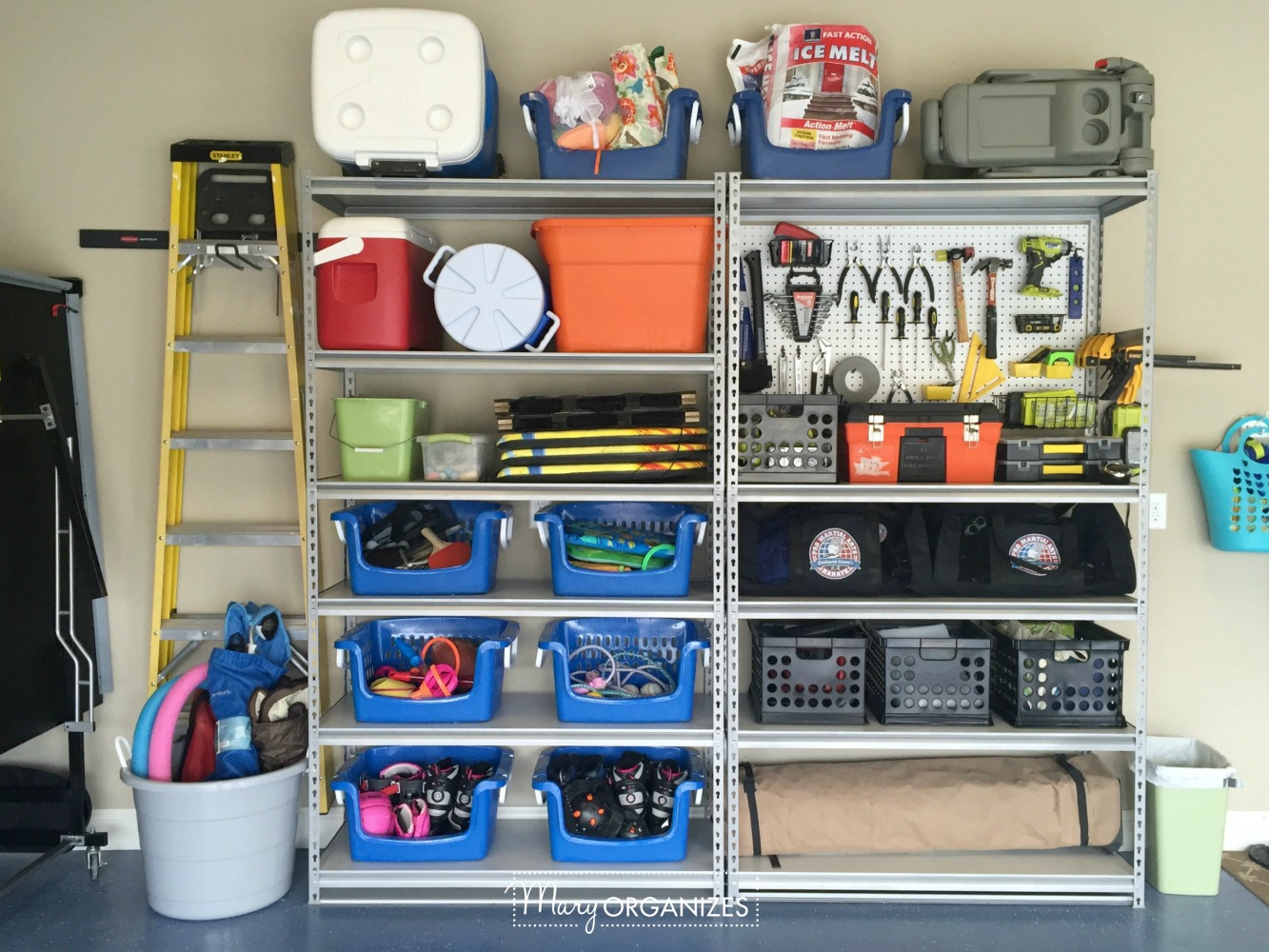 My Re-Organized Garage Reveal 8