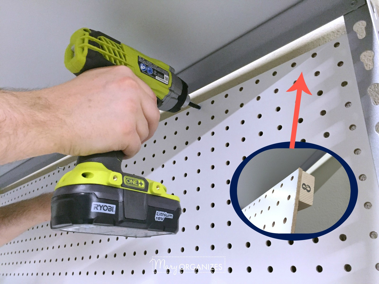 Pegboard Hack and Organizing Garage Shelves 9