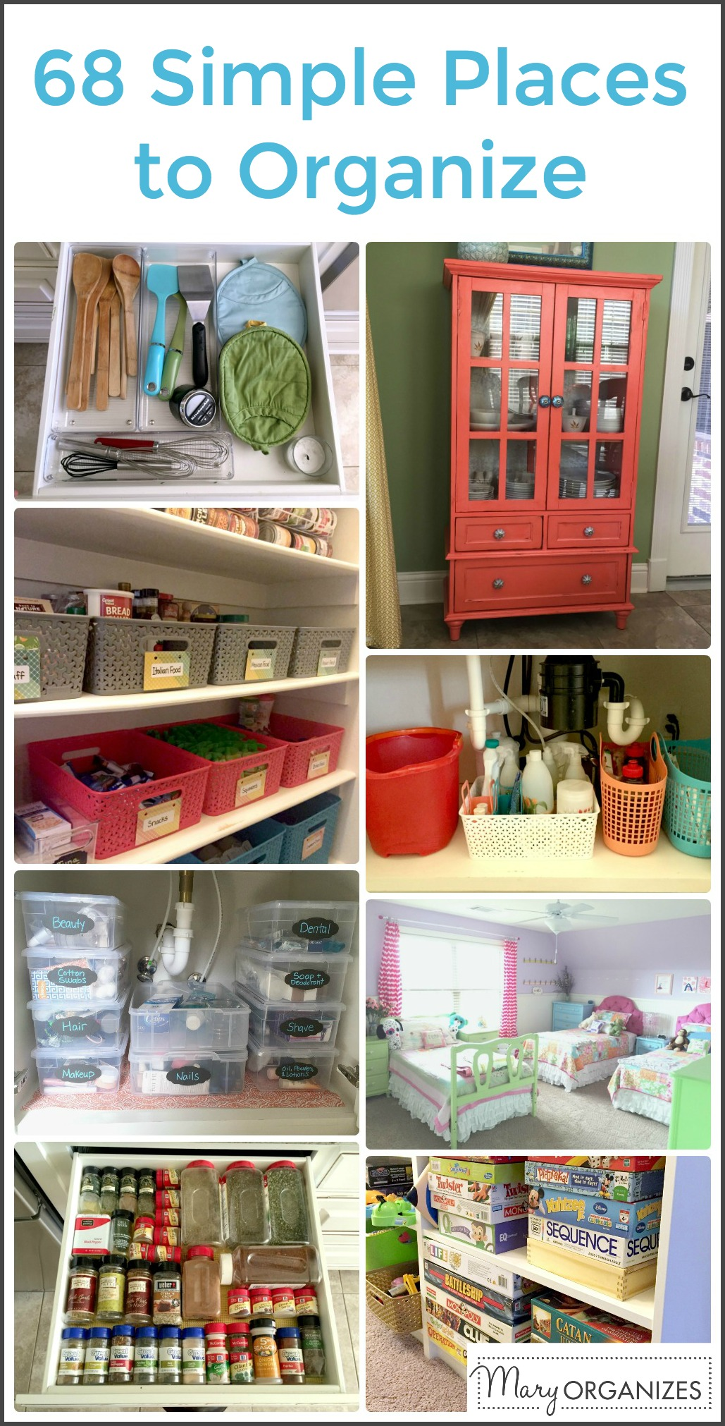 68 Simple Places To Organize -v