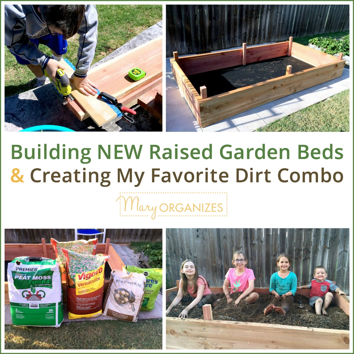 Building NEW Raised Garden Beds & Creating My Favorite Dirt Combo -s