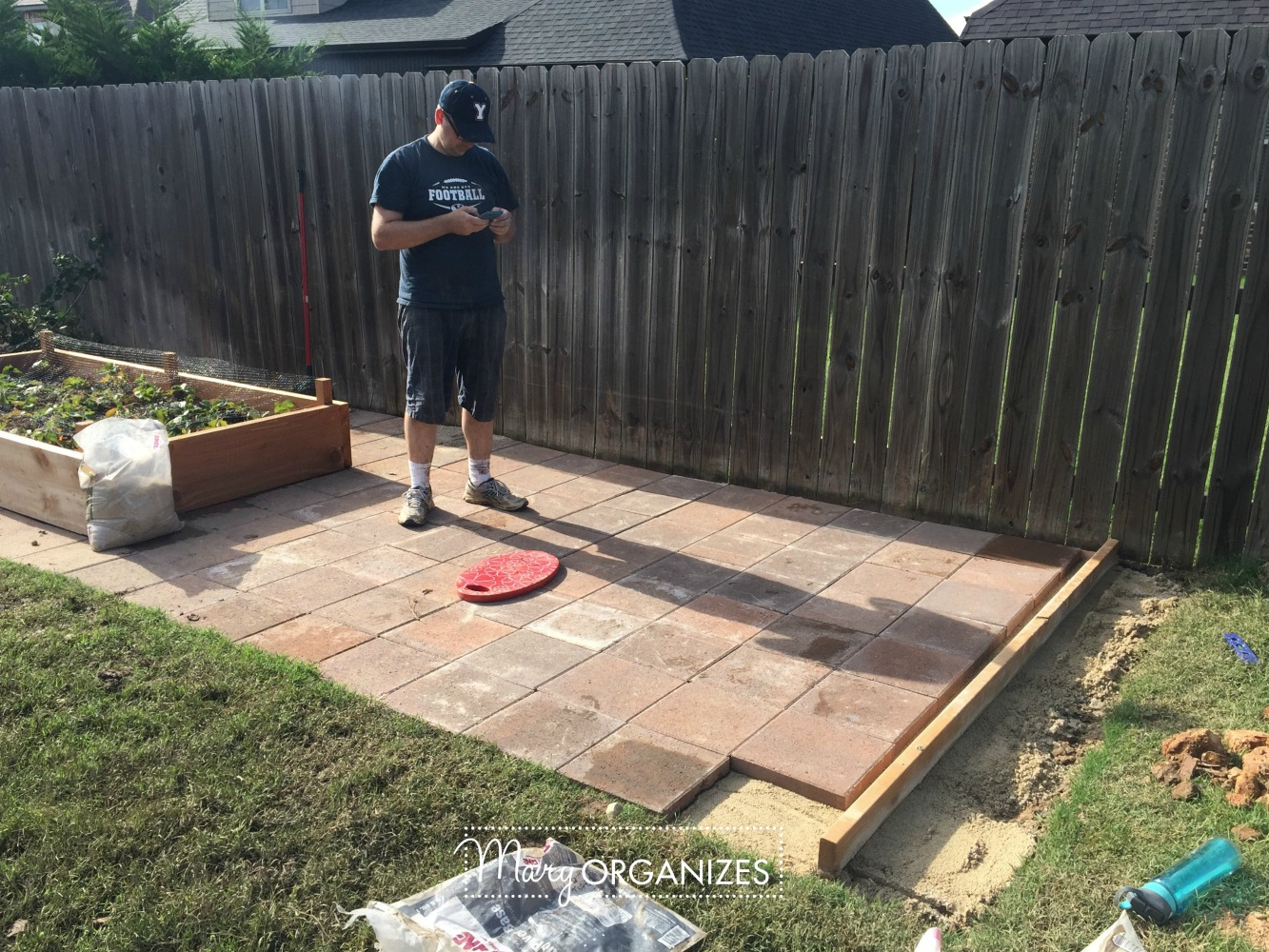 How To Install Paver Patio - My Raised Garden Foundation 14
