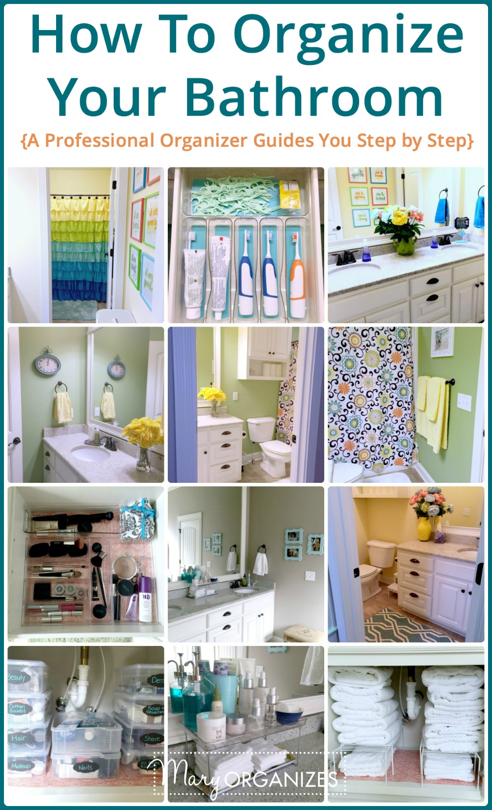 How To Organize Your Bathroom -v