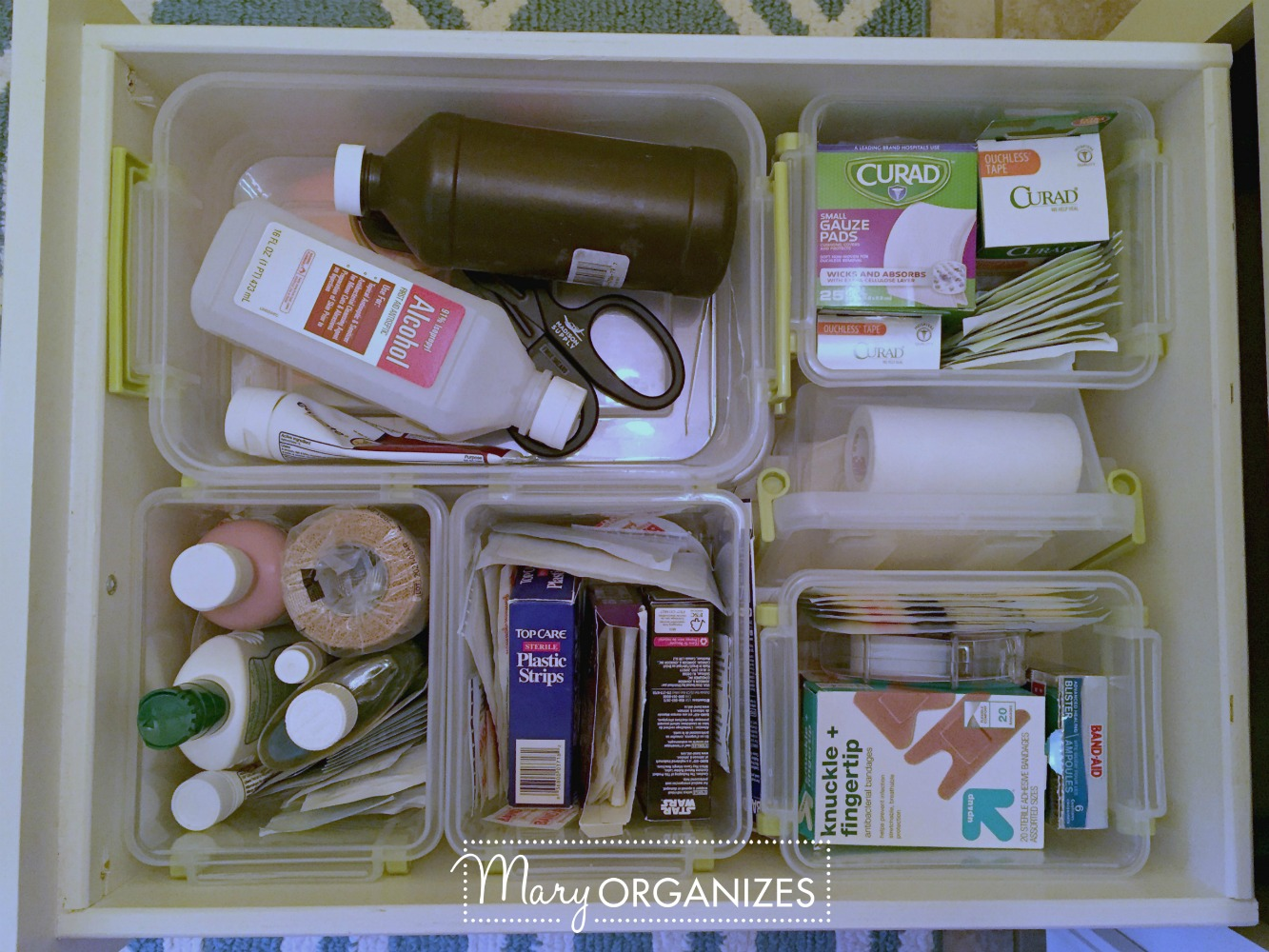 Organizing First Aid Supplies - This is what I do - Mary ORGANIZES 3