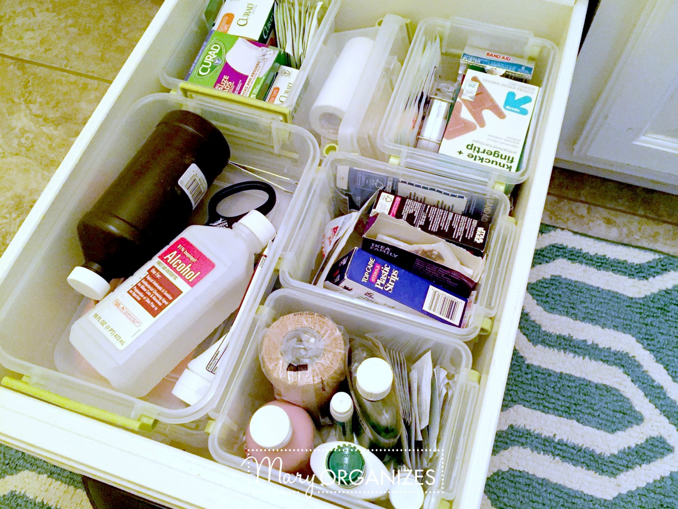 Organizing First Aid Supplies - This is what I do - Mary ORGANIZES 4