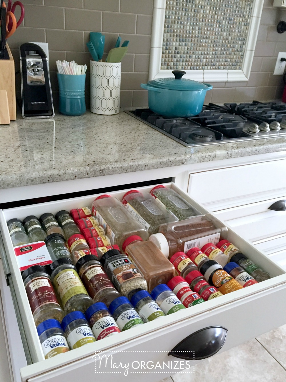 Organizing Spices - This is what I do - Mary ORGANIZES -2