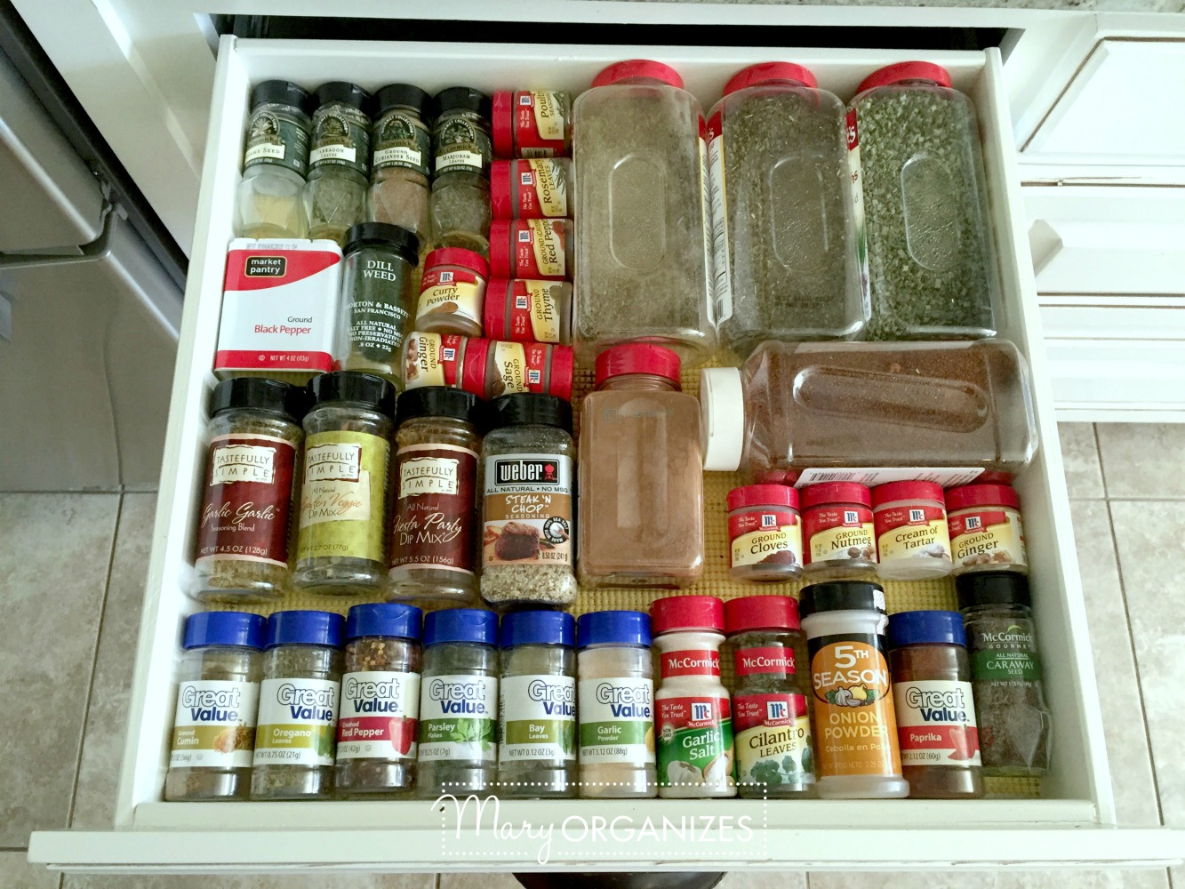 Organizing Spices - This is what I do - Mary ORGANIZES -h