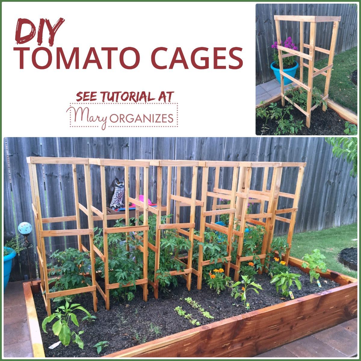 DIY Tomato Cage Tutorial for the Organic Garden -s