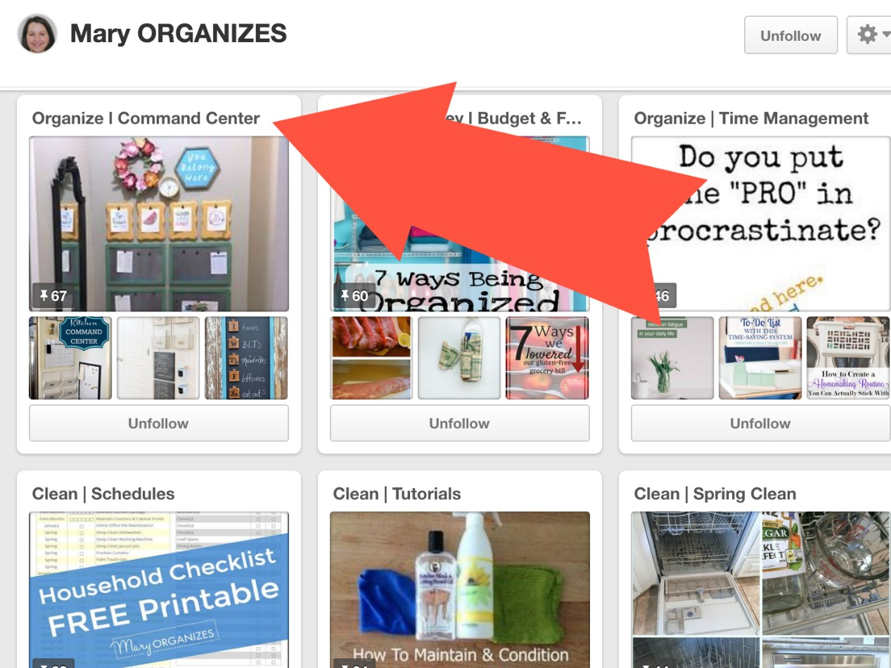 Pinterest - Organize Command Center