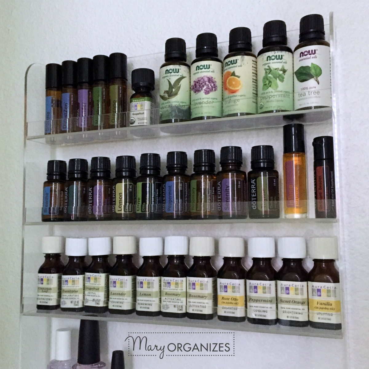 Organizing Essential Oils -s